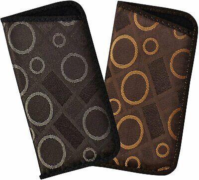 2 Pack Soft Eyeglass Slip Cases For Men & Women, Geometric Slip In Glasses (Geometric Glasses Case)