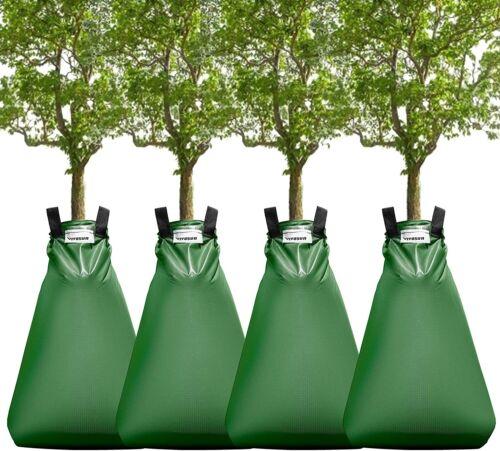 VIVOSUN 4-Pack 20 Gallon Watering Bag for Trees, Premium PVC Tree Irrigation Bag