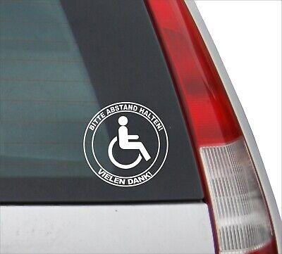 ahrer Bitte Abstand halten! Rollstuhl Behinderte Ø10cm Weiß (Aufkleber Rolls)