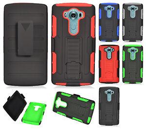 for lg v10 combo belt clip holster case phone cover kick. Black Bedroom Furniture Sets. Home Design Ideas