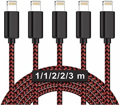 MBYY iPhone Charger Cable MFi Certified 5 Pack 3/3/6/6/10FTFast Charge Nylon