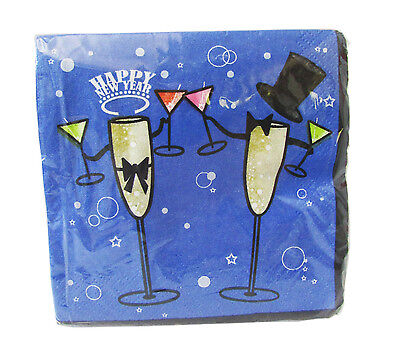 Bulk Wholesale 2-Ply Paper Napkins New Year's Beverage Party Tableware Lot 2,880](Paper Napkins Wholesale)