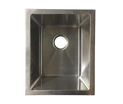 Bowl 15 Gauge (Stainless Steel Single Bowl 16 Gauge Under mount Kitchen 18