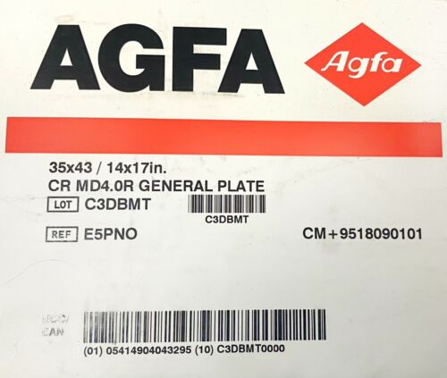 AGFA CR MD 4.0 R General Plate, 35x43cm / 14x17in