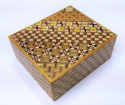 Wide 14 steps Yosegi Japanese Puzzle Box Himitsu-bako Hakone Brand NEW by OKA