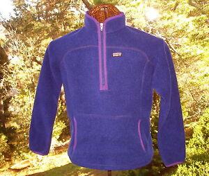 PATAGONIA-Purple-Fleece-SYNCHILLA-Jacket-Neck-Zip-Reflector-Strip-Girls-XL-14