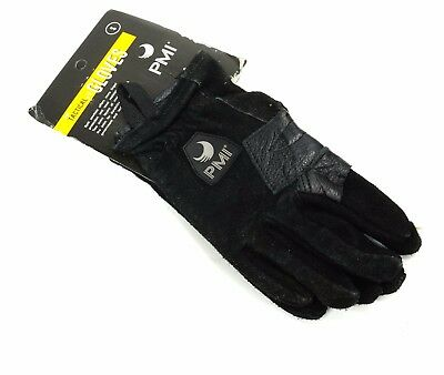 PMI Tactical Rope Climbing Gloves, Split Cowhide Black Size Small