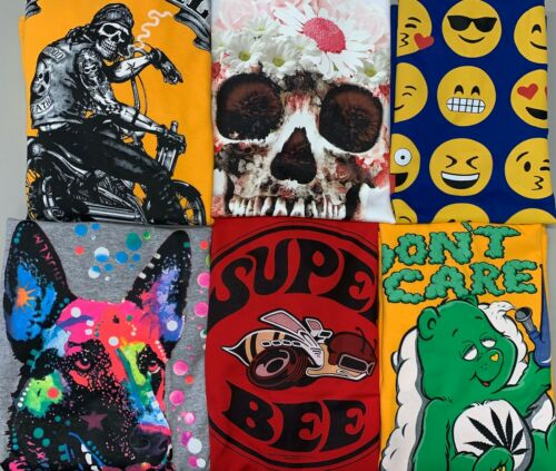 Bulk Graphic Sweatshirts Lot Wholesale Novelty Assorted Colors Sizes
