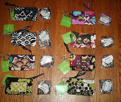Vera Bradley Breakaway Lanyard & Zip Id Case Badge Or Gift Card Holder