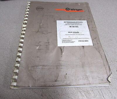 Wirtgen W50DC Instruction Manual 179132.0003