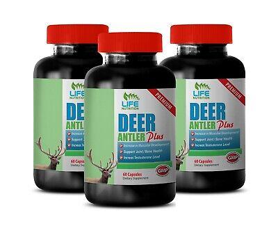 Testosterone Supplements - DEER ANTLER PLUS 555mg - Increase Energy Level 3B ()