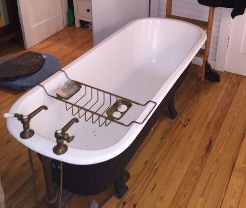 Antique Clawfoot Tub  Rare  Long With  History  Seaside Robert Davis Tub