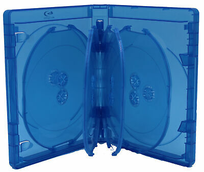 Bluray Replacement 10-Disc 25mm With Blu-ray Logo Premium Movie Storage Cases