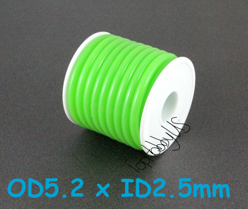 1Roll (16ft) Green Silicone RC Nitro Fuel Line Tubing D5.2xø2.5 (US SELLER/SHIP)