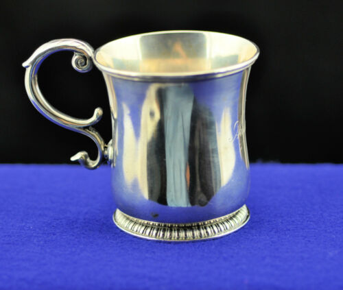"""AUTHENTIC ANTIQUE  TIFFANY & Co STERLING SILVER  BABY CUP """"Audrey"""" 129 GRAMS"""