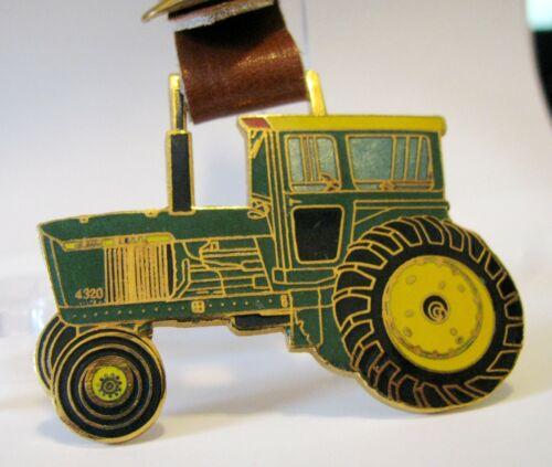 John Deere 4320 Tractor New Generation Series Brass Enamel Pocket Watch Fob jd
