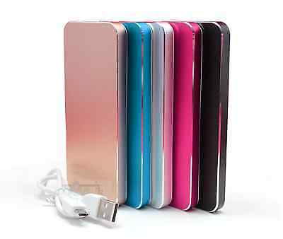 - 8000mAh USB Thin Slim Power Bank Protable Battery Charger For Cell Phone