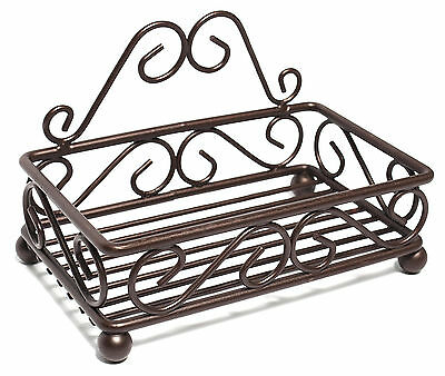 Bronze Metal Wire Swirl Pattern Counter Top Sponge/Soap Holder