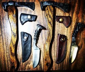 Hand forged knives and tomahawks