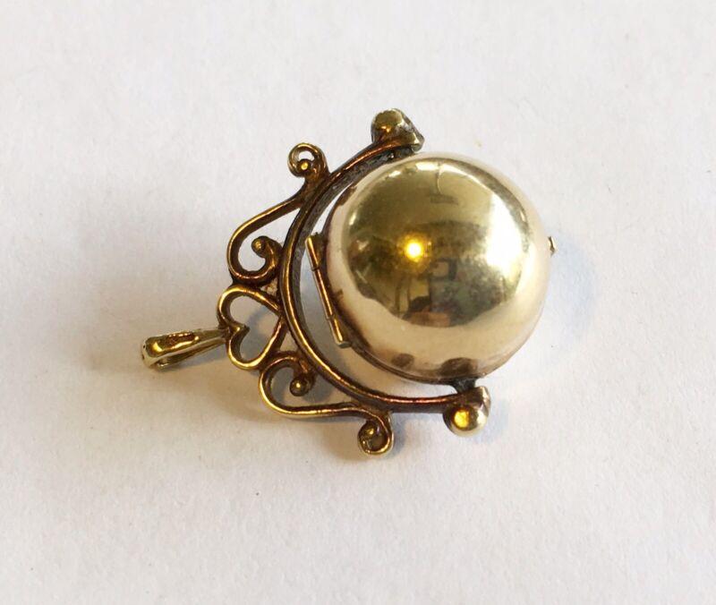Antique Victorian 14k Locket/Watch Fob/Charm/Drop Ball Shaped