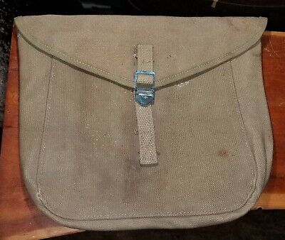 WWII Era US Army M1928 Haversack Meat Can or Mess Kit Pouch - OD Color -