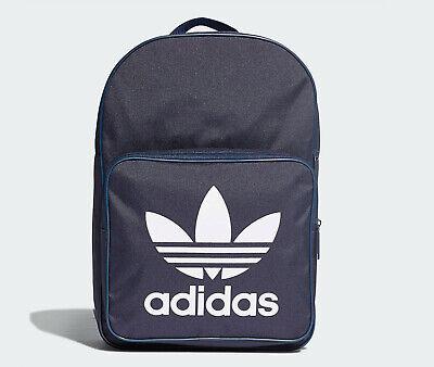 Adidas originals Classic trefoil Backpack Bag school gym men womens new blue