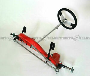 Front chassis frame - Foot pedal control setup (complete) - Go kart drift Buggy