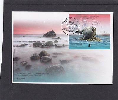 Estonia  2015 Save the Baltic Seal MS FDC Tallin special h/s