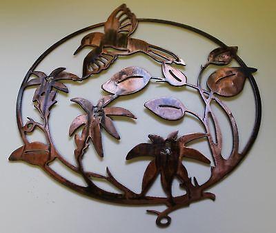 HUMMING BIRD METAL WALL ART DECOR copper/bronze plated