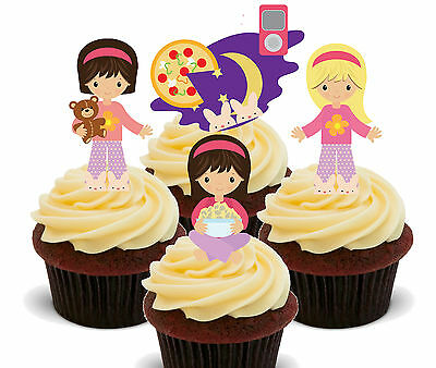 Sleepover Slumber Party Edible Cup Cake Toppers, Standup Fairy Decorations Girl](Slumber Party Decorations)