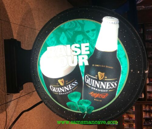 Guinness Raise Your Glass Lighted Pub Sign