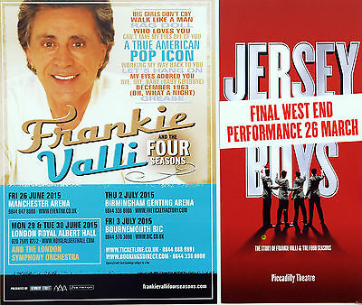 JERSEY BOYS FINAL WEST END PICCADILLY THEATRE FLYER & FRANKIE VALLI TOUR FLYER