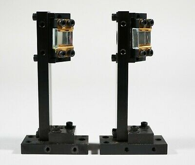 Two High Quality 90 Degree Laser Beam Mirrors With Mounting Base