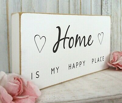 Home Sign Plaque House Warming Gift Vintage Shabby & Chic Free Standing