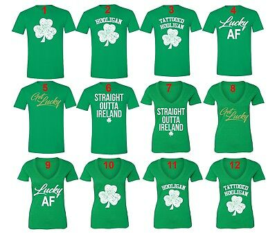 St Patricks Day shirt Shamrock Clover Paddy's Irish Unisex Men Women T-Shirt Grn
