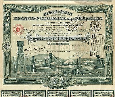 POLAND FRANCO POLISH OIL COMPANY stock certificate 1920