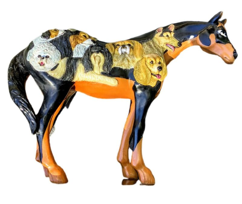 """The Trail Of Painted Ponies """"DOG AND PONY SHOW"""" 3E/2531 Horse Figurine Statue"""