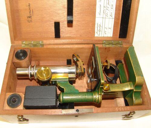 rare antique brass Microscope № 45411, original box