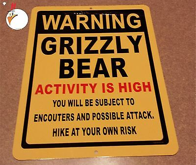 WARNING GRIZZLY BEAR, Sign, bears, fishing, warning, GRIZZLY bears, hunting,