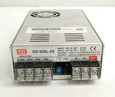 Mean Well Sd-500l-24 Dcdc Power Supply Voltage Converter 19-72v In 24v 500w Out