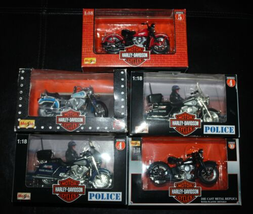 Maisto Harley Davidson 1/18 Motorcycles ASSORTED LOT OF 5 ~ NEW IN BOX