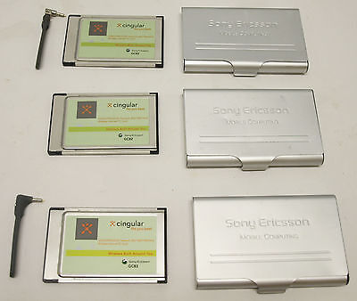 Cingular Sony Ericsson GC82 (2) & GC83 EDGE PC Cards  - wireless mobile internet