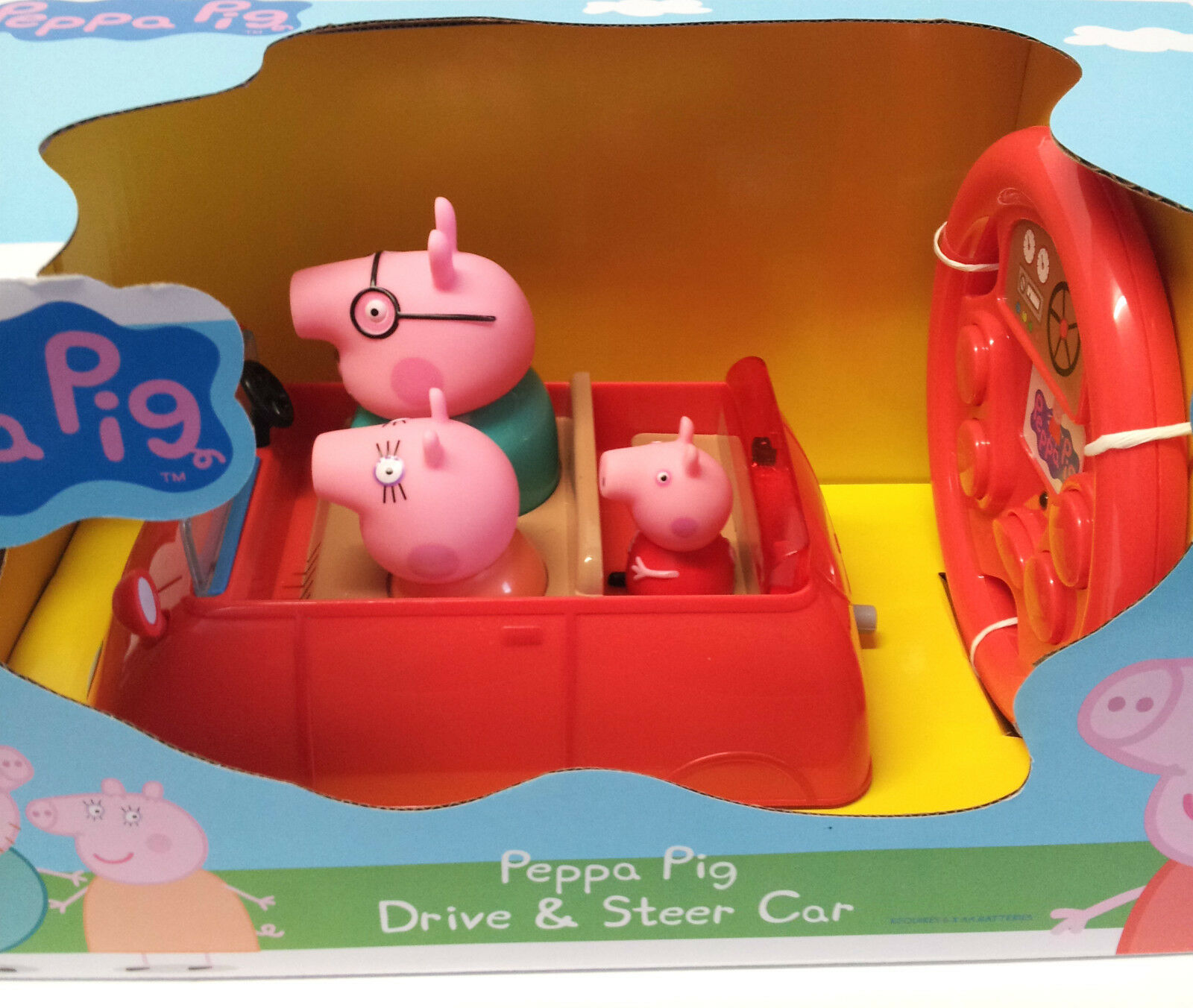 peppa pig drive steer car remote control car age 18m purchase today ebay. Black Bedroom Furniture Sets. Home Design Ideas