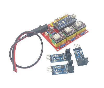 Arduino Nano Cnc Shield Drv8825 Board Package Kit W 3x Optical Limit Switch