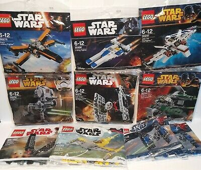 Lego Star Wars Polybag Bundle x10. (See all Pictures)