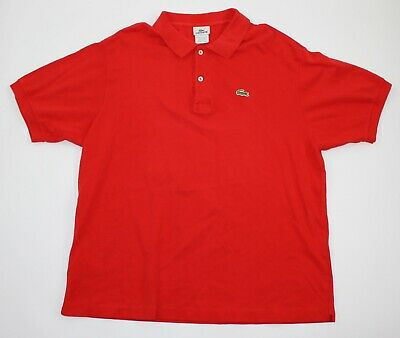Lacoste Mens Size 7 Extra Large Red Regular Fit Polo Shirt