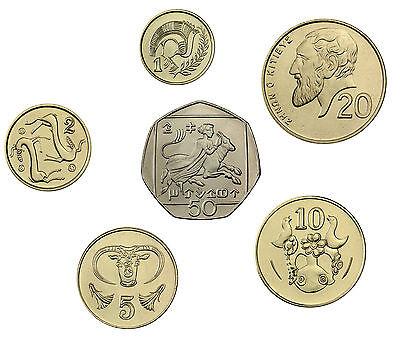 Zypern 88 Cent 1998 bis 2002 bfr. Münzsatz aus 6 Münzen