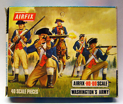 Airfix S39, Washington´s Army, 40 Teile kplt. Blue Box, Black Label OVP, 1966-71