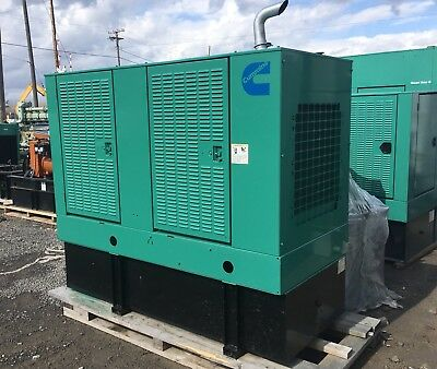 50 Kw Diesel Generator Cummins 40kw 4bt3.9-g4 12 Lead 1 3 Phase Low Hrs 50dgca