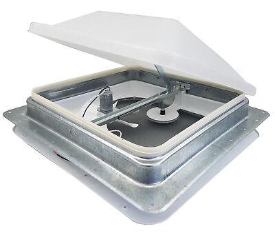 Ventline 14 RV Roof vent 12 volt FAN w WHITE lid inner garnish ring V2094SP 30